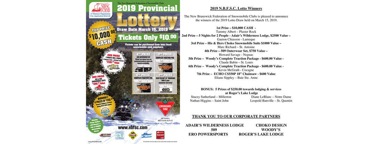 2019 Lotto Winners